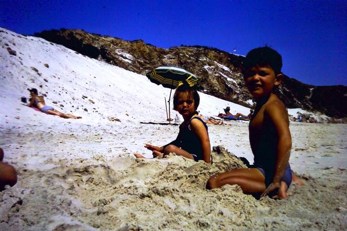 Holidays - Ian and Melanie on beach