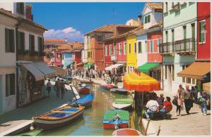 The riot of colour on Burano.
