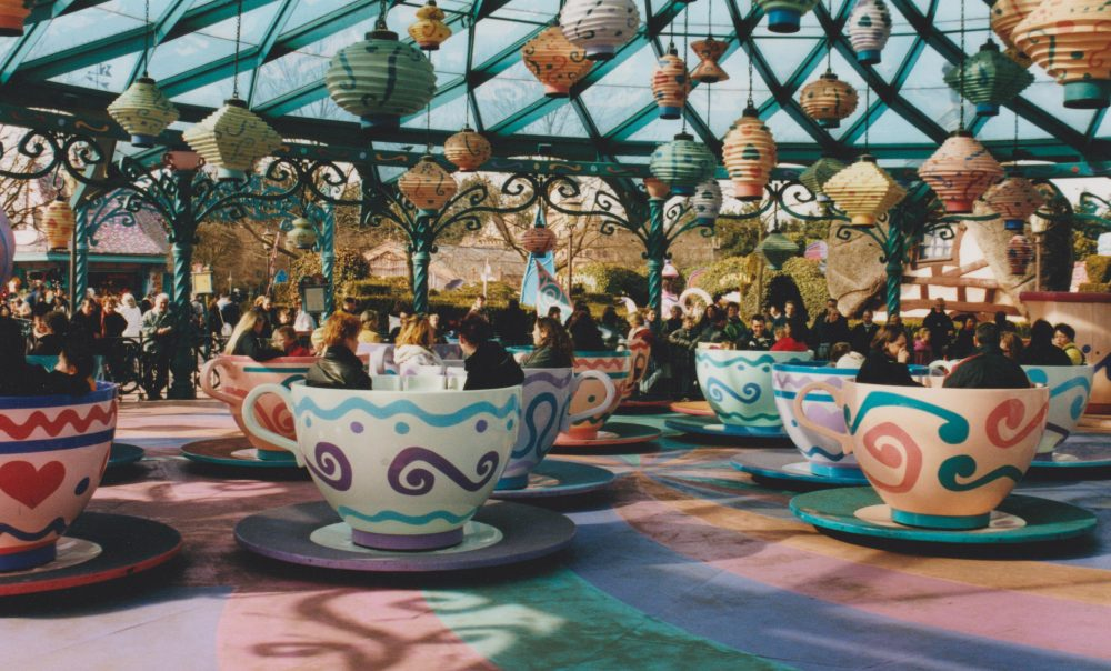The Mad Hatters Tea Cups at Disneyland Paris