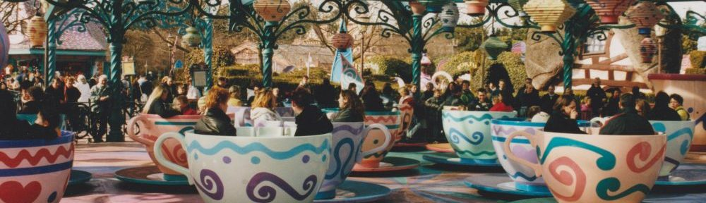 The Mad Hatters Tea Cups at Disneyland Paris