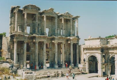 The Celsus Library, Ephesus, Turkey.