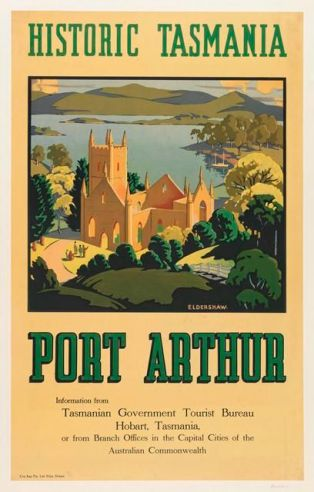 Old advertising for Port Arthur