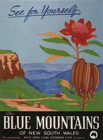 A vintage poster of the region. Source: anbg.gov.au