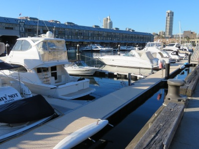 Luxury boats at Woolloomooloo Wharf