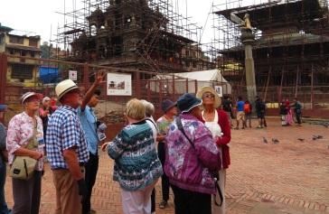 Surveying the damage, Durbar Square, Patan