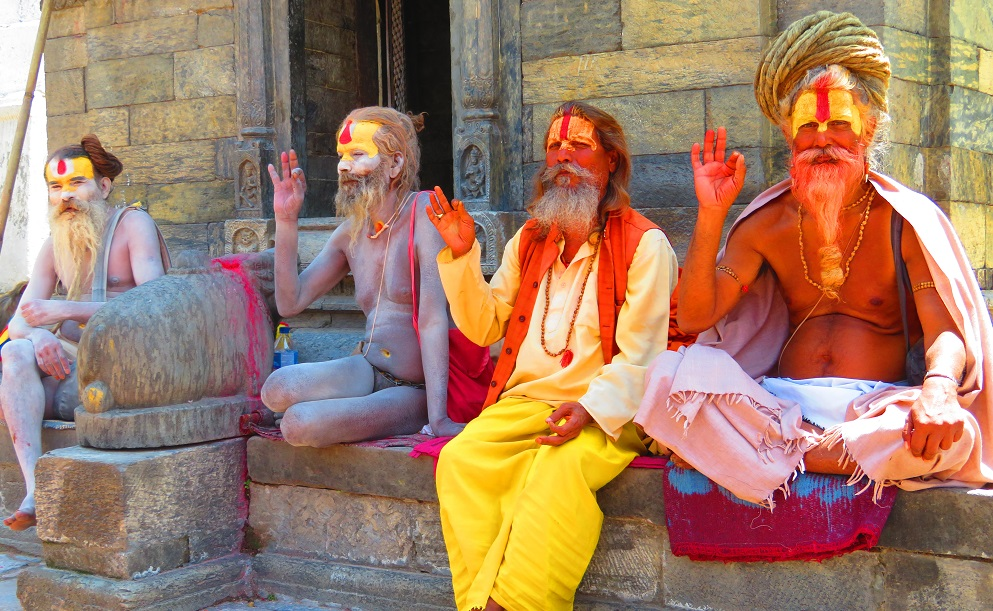 The Sadhus wish us well, Kathmandu Nepal