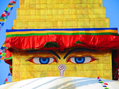 The all-seeing Great Bouhda Stupa, Kathmandu