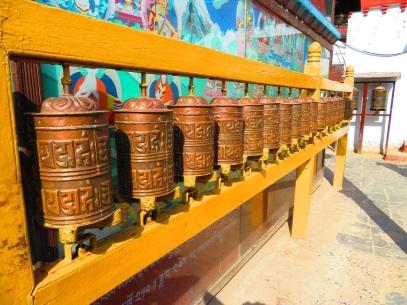 Prayer wheels. Great Bouhda Stupa, Kathmandu