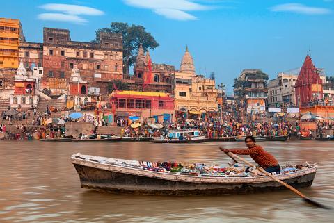 Boatman on the Ganges at Varanasi. Source; Intrepid
