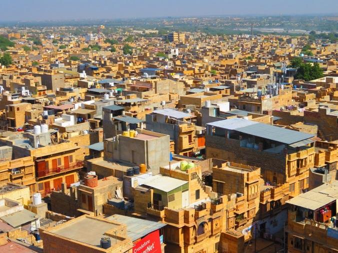 A view over Jaisalmer, India