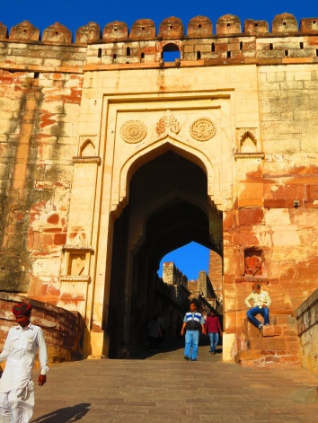 Walking into the Fort, Jodhpur, India