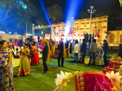 The bright lights and vivid colours of an Indian Wedding, Jaipur.