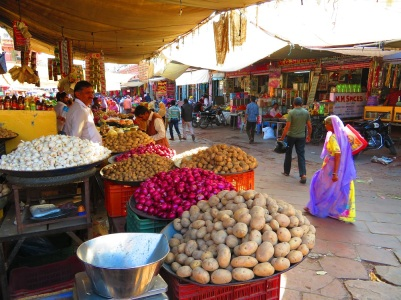 Vegetable sellers at Jodhpur markets