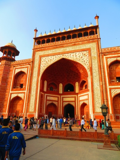 entrance gates to the grounds of the Taj Mahal