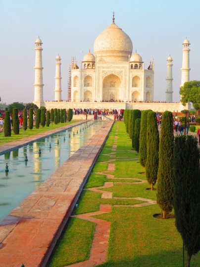 Taj Mahal and ponds