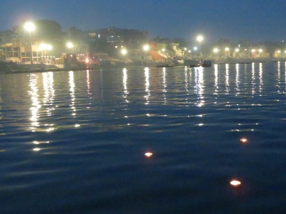 Floating candles on the Ganges, Varanasi