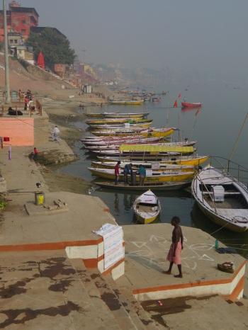 River Ganges and boats, Varanasi, India