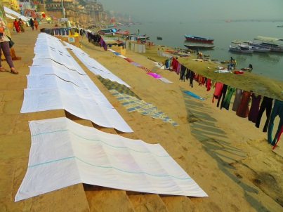 Wash day on the Ganges, Varanasi