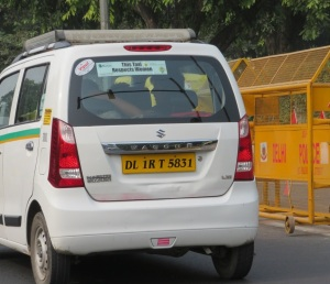 Taxis respect women in Delhi