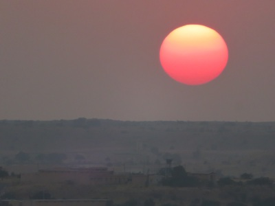 Sunset over Jaisalmer, India