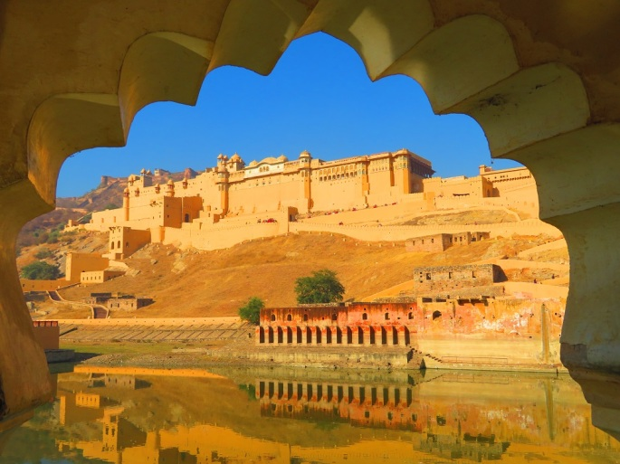 The breathtaking Amber Fort. Jaipur
