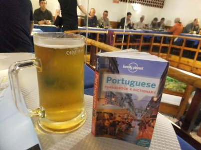 A book and a beer in Portugal