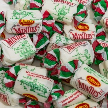 a large number of Minties