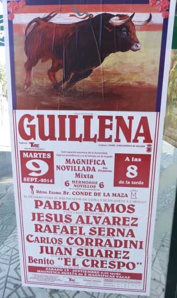 bull fighting poster
