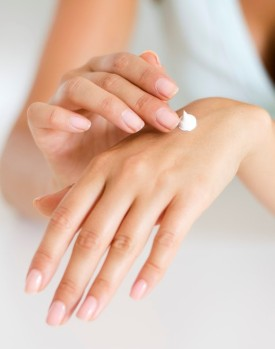 Female Hands and moisturiser