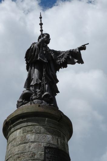 St Bernard statue pointing