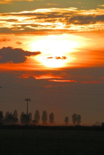 Sunrise on the Via Francigena