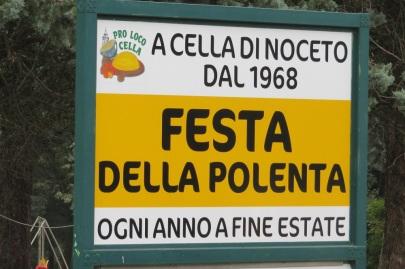 Polenta Festival sign