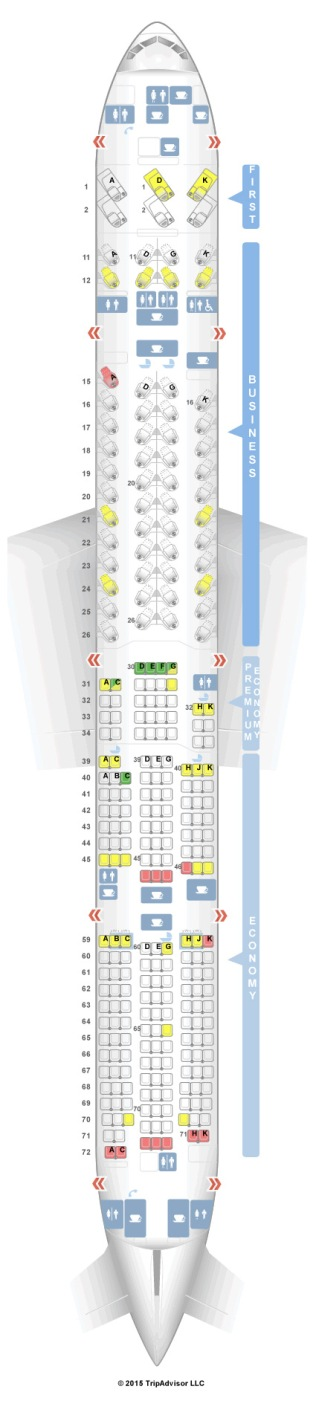 Cathay Pacific seat configuration.