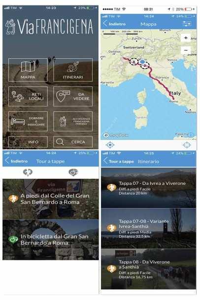 Official Via Francigena App content