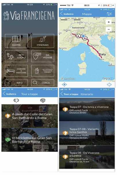 Official Via Francigena App content