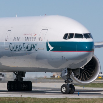 Cathay Pacific Plane nose