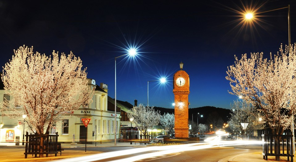 The Mudgee Project captures the intersection of Market and Church Streets at night