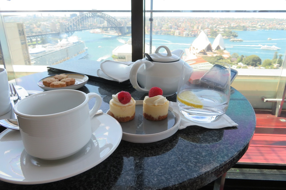Tea with a view over Sydney Harbour
