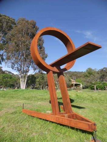 Large metal sculpture in Mudgee