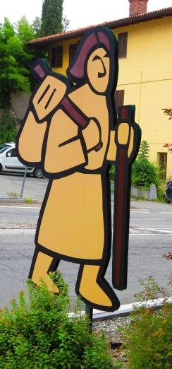 Via Francigena pilgrim logo