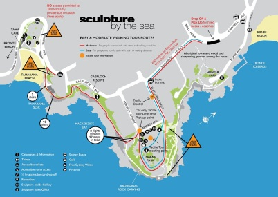 Map of Sculpture by the Sea, Bondi Beach 2018