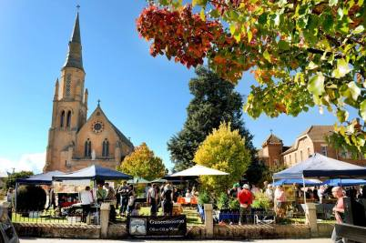 The markets at St Mary's Church Mudgee