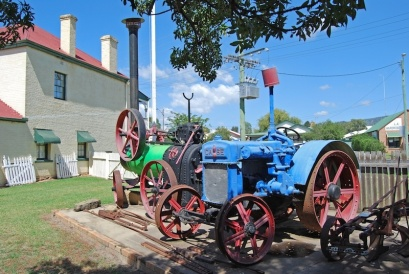 Industrial machinery and tractors at Mudgee Museum