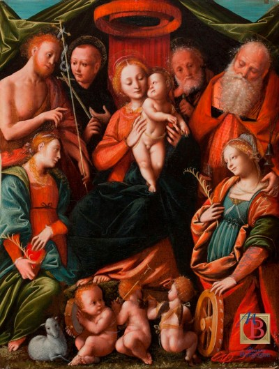 Religious painting Museo Borgogna Vercelli Italy