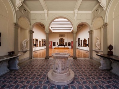 Internal view of Museo Borgogna Vercelli Italy