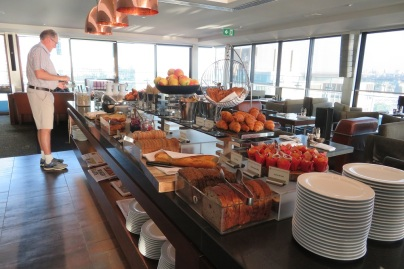 The breakfast buffet at Level 31 Intercontinental Hotel Sydney