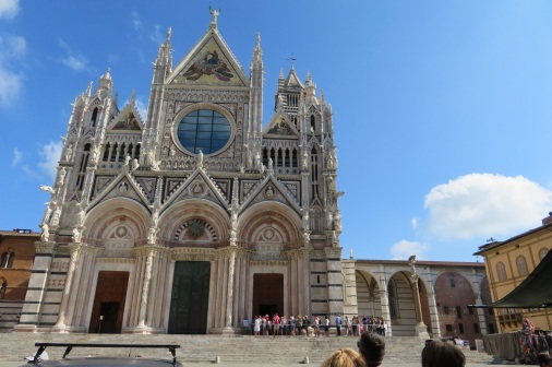 The spectacular Duomo, Siena - outside view