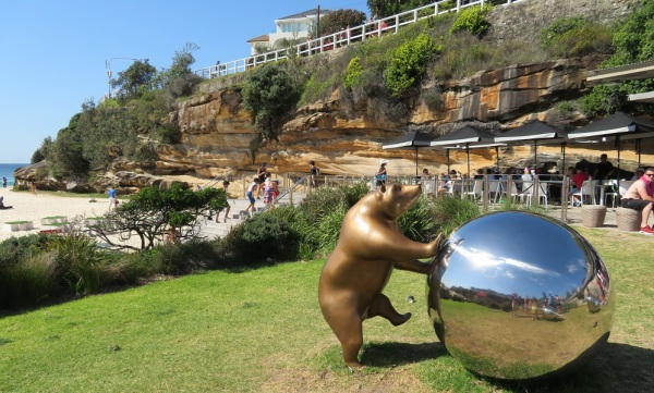 A bear and ball on the beach, Tamarama Beach
