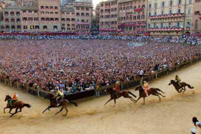 Palio horse race Siena