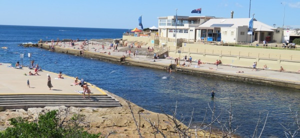Swimmers at Clovelly Beach